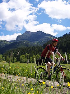 Mountainbike vorm Breitenstein